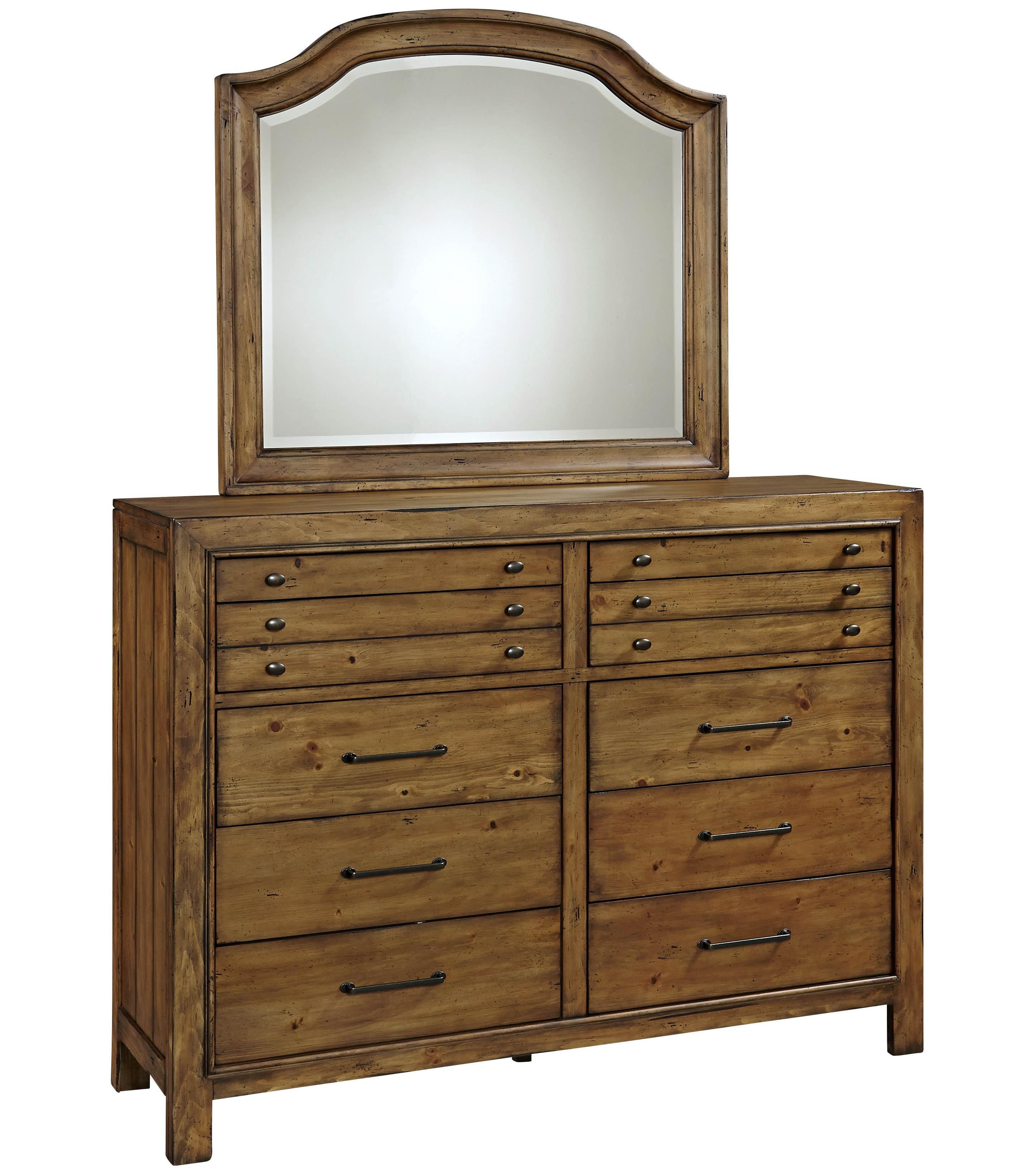 Broyhill Furniture Bethany Square Chesser and Mirror Set - Item Number: 4930-234+7