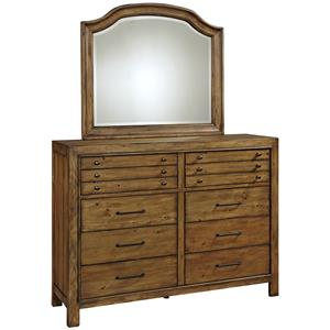 Broyhill Furniture Bethany Square Chesser and Mirror Set