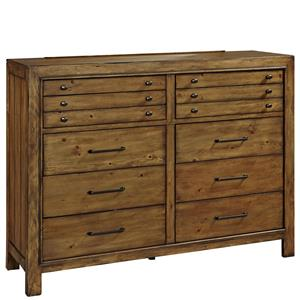 Broyhill Furniture Bethany Square 10 Drawer Chesser