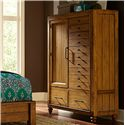 Broyhill Furniture Bethany Square Door Chest with 5 Drawers
