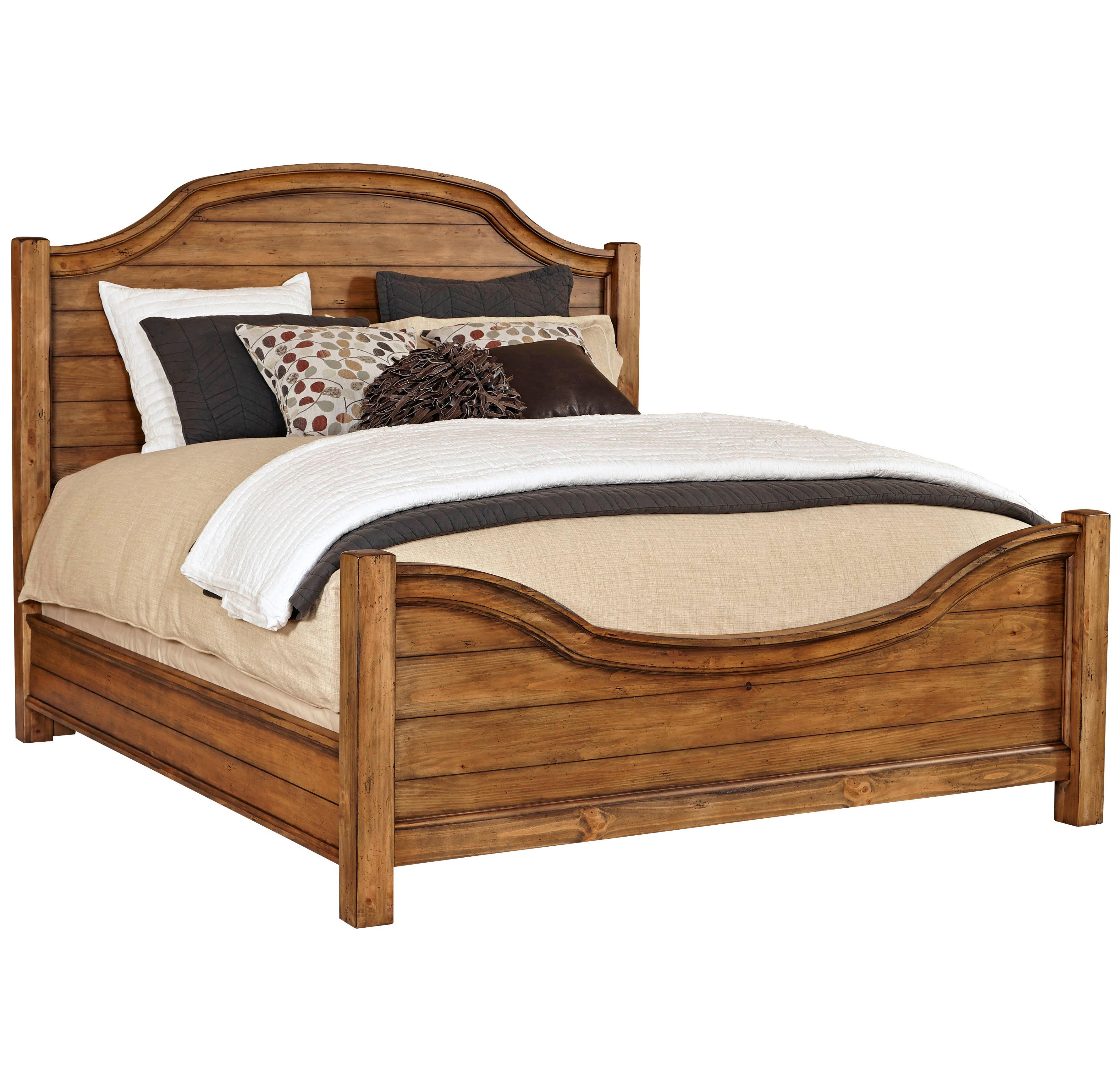Broyhill Furniture Bethany Square Queen Panel Bed - Item Number: 4930-256+257+450