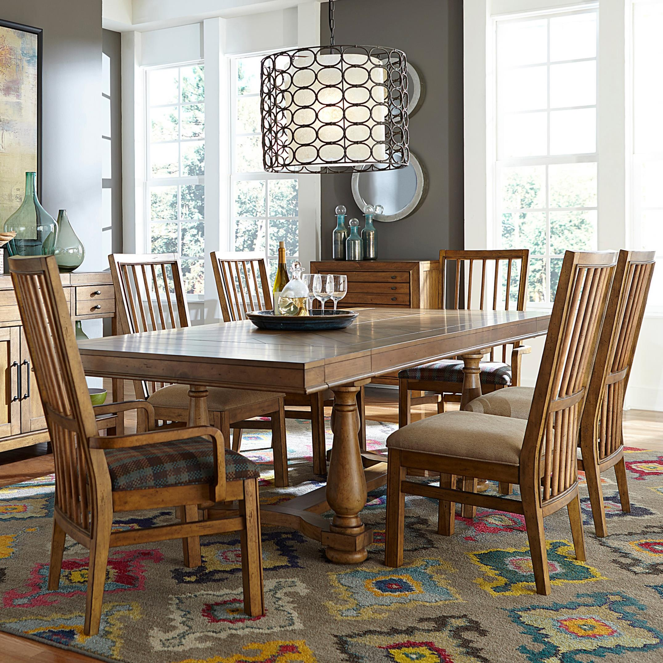 Broyhill Furniture Bethany Square 7 Piece Dining Set - Item Number: 4930-531+51+2x80+4x81