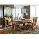 Broyhill Furniture Bethany Square Trestle Dining Table with 2 Leaves