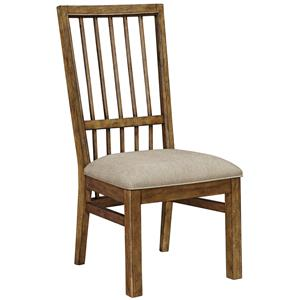 Broyhill Furniture Bethany Square Upholstered Seat Side Chair