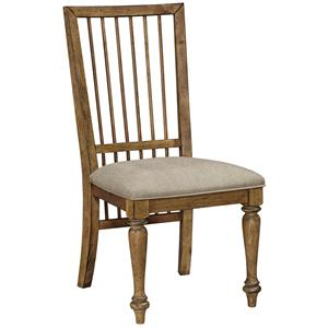 Broyhill Furniture Bethany Square Upholstered Seat Studio Side Chair