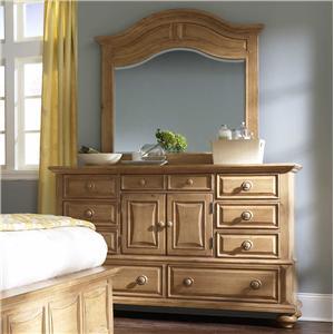 Broyhill Furniture Bryson Door Dresser with Mirror