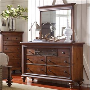 Broyhill Furniture Cascade Dresser and Mirror Set