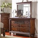 Broyhill Furniture Cascade Dresser and Mirror Set - Item Number: 4940-230+6
