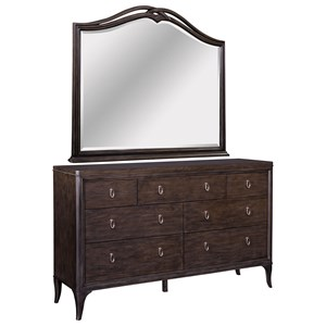 Broyhill Furniture Cashmera Dresser and Mirror Combo