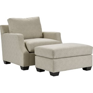 Broyhill Furniture Chambers Chair and Ottoman