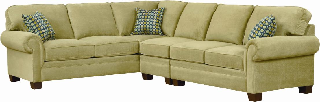 Broyhill Furniture Choices <b>Customizable</b> Sectional Sofa - Item Number: A212-4+0+1