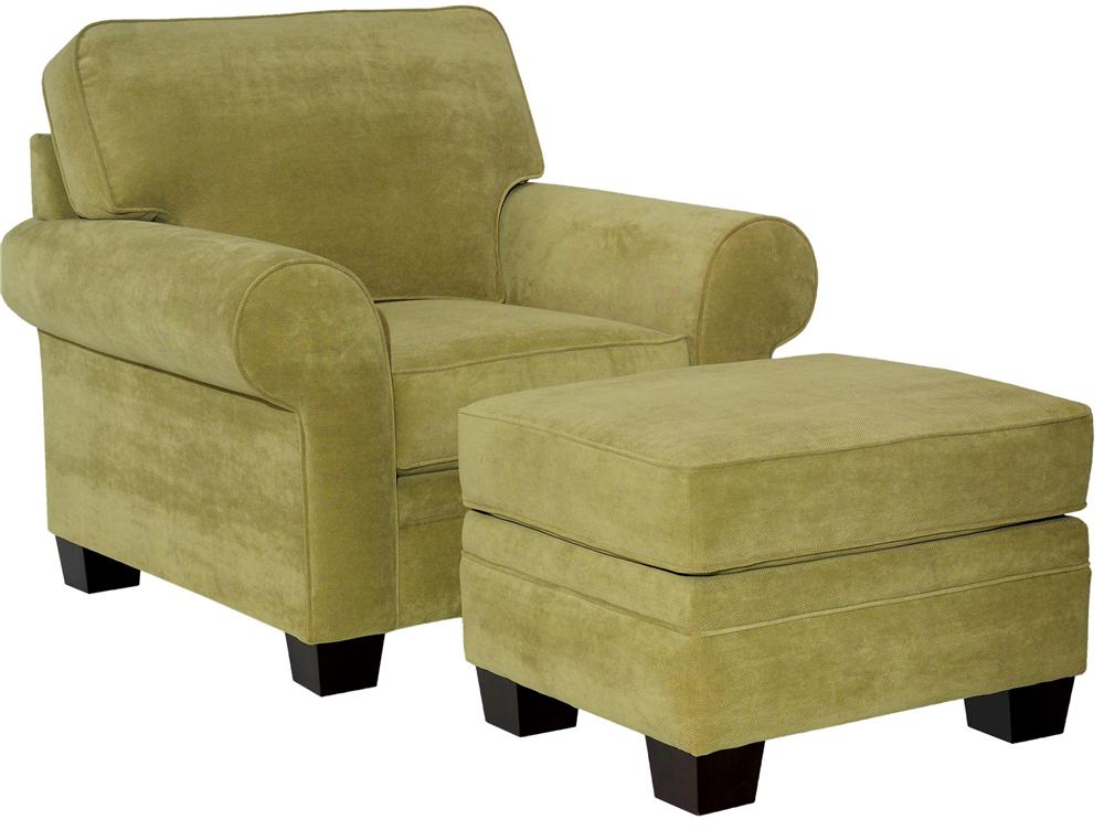 Broyhill Furniture Choices <b>Customizable</b>  Chair & Ottoman - Item Number: B112-0+5