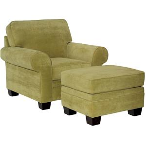 Broyhill Furniture Choices <b>Customizable</b>  Chair & Ottoman