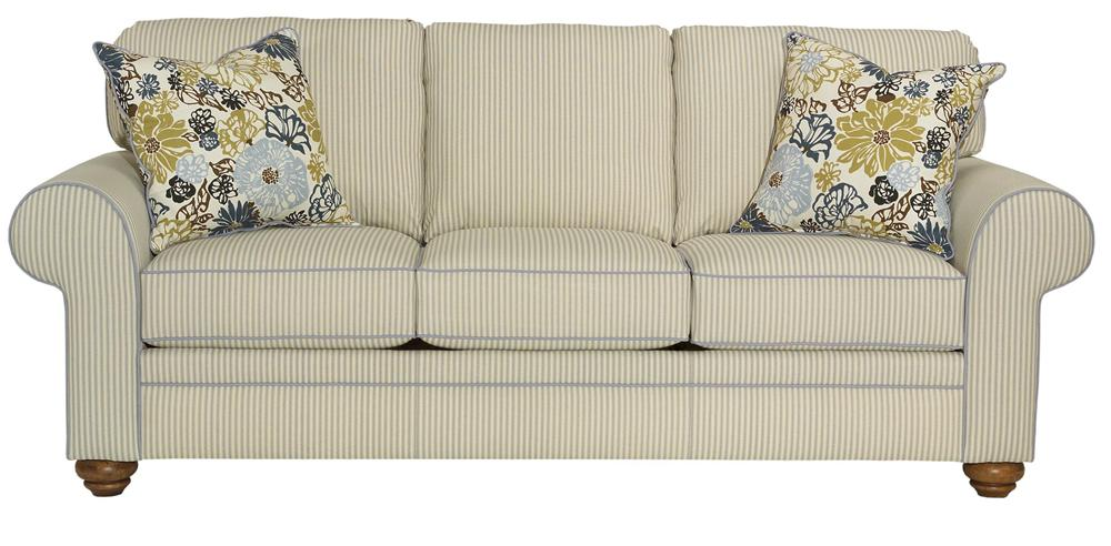Broyhill Furniture Choices Upholstery <b>Customizable</b> 87 Inch Standard Sofa - Item Number: B121-3
