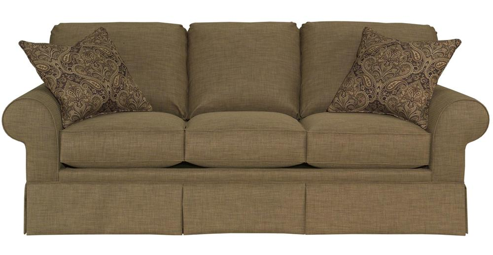 Broyhill Furniture Choices Upholstery <b>Customizable</b> 87 Inch Standard Sofa - Item Number: B123-3