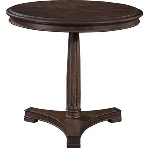 Broyhill Furniture Cranford Round Lamp Table