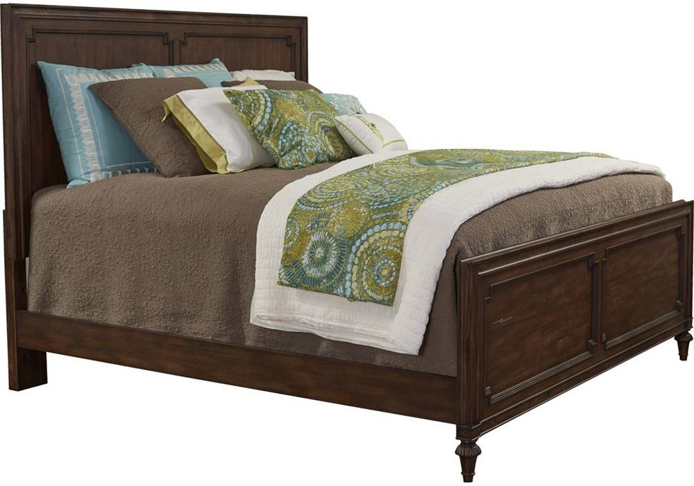 Broyhill Furniture Cranford Queen Wood Panel Bed - Item Number: 4800-256+257+450