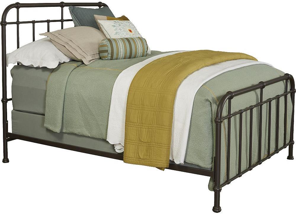 Broyhill Furniture Cranford California King Metal Spindle Bed - Item Number: 4800-274+275+475