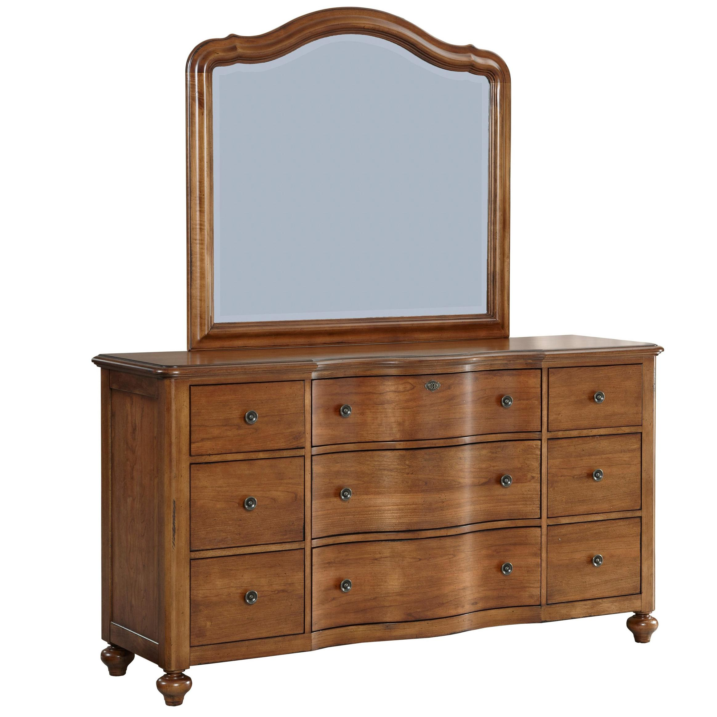 Broyhill Furniture Creswell 9 Drawer Dresser and Mirror Set - AHFA ...