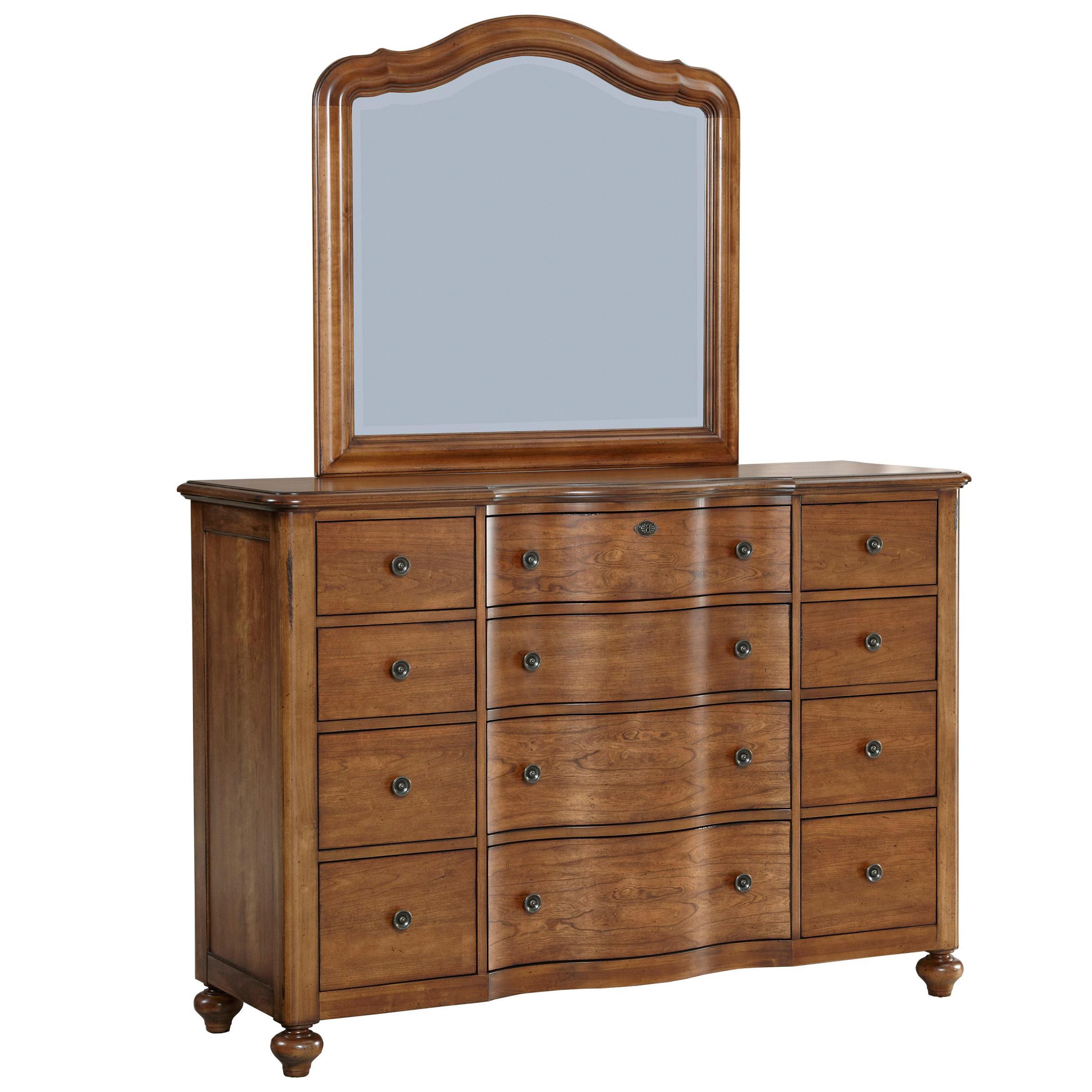 Broyhill Furniture Creswell 12 Drawer Chesser And Mirror Set   AHFA    Dresser U0026 Mirror Dealer Locator