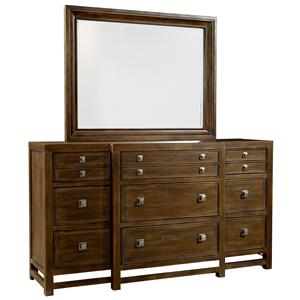 Broyhill Furniture Danville Heights Dresser & Mirror Combo