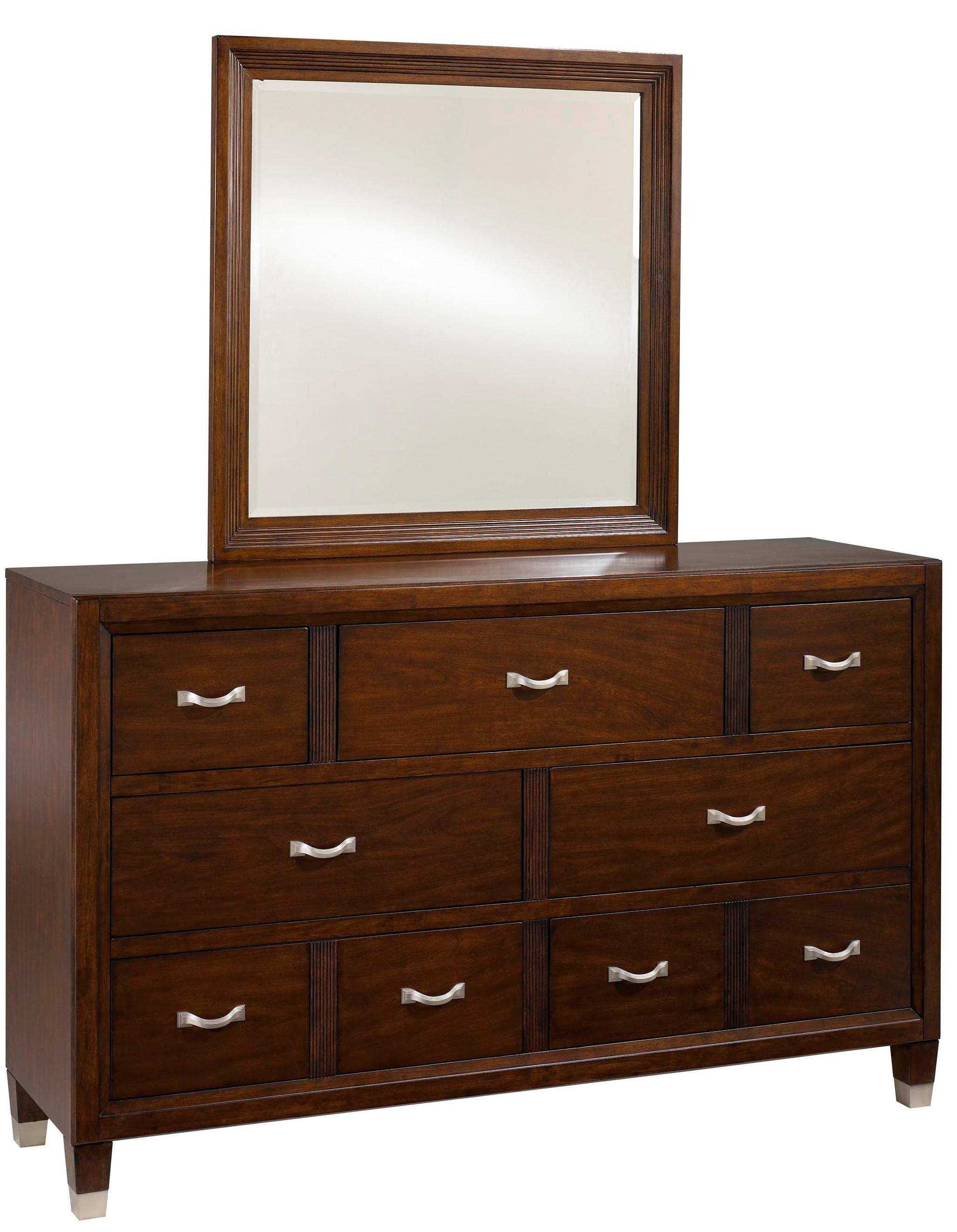 Broyhill Furniture Eastlake 2 Drawer Dresser With Landscape Dresser Mirror    Item Number: 4264