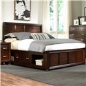 Broyhill Furniture Eastlake 2 Queen Captain's Bed with Single Storage Side Rail - 4264-250+261+477 - Bed Shown May Not Represent Size Indicated