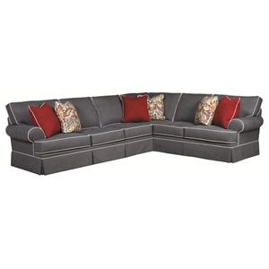 Broyhill Furniture Emily Traditional 3 Piece Sectional Sofa