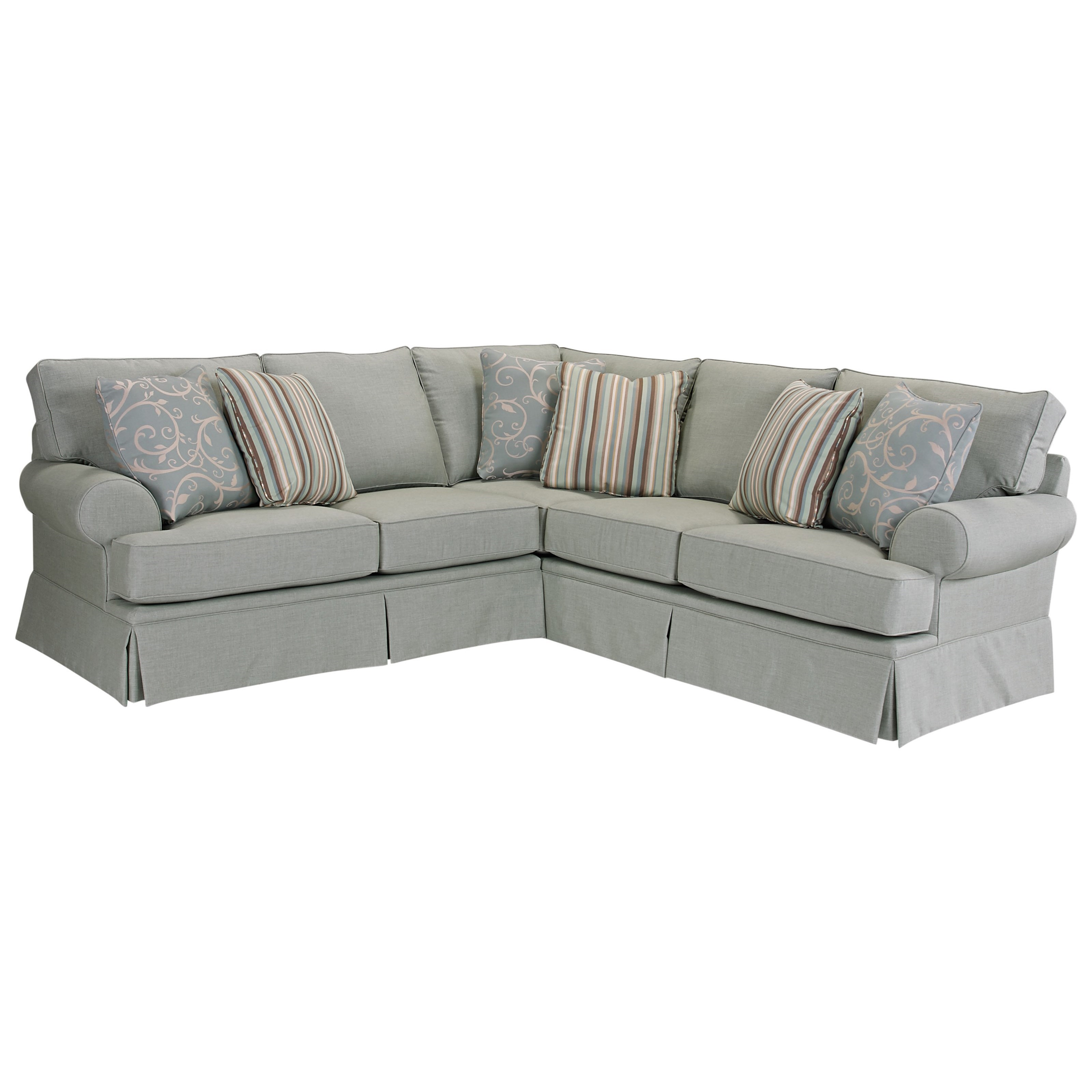 Merveilleux Broyhill Furniture Emily Transitional Sectional   Item Number:  S6263 2+3 40430