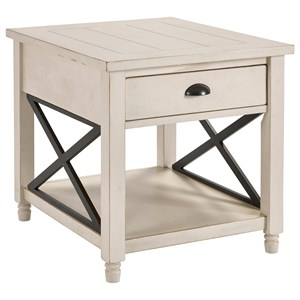 Broyhill Furniture Ester Drawer End Table