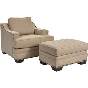 Broyhill Furniture Estes Park Chair and Ottoman Set