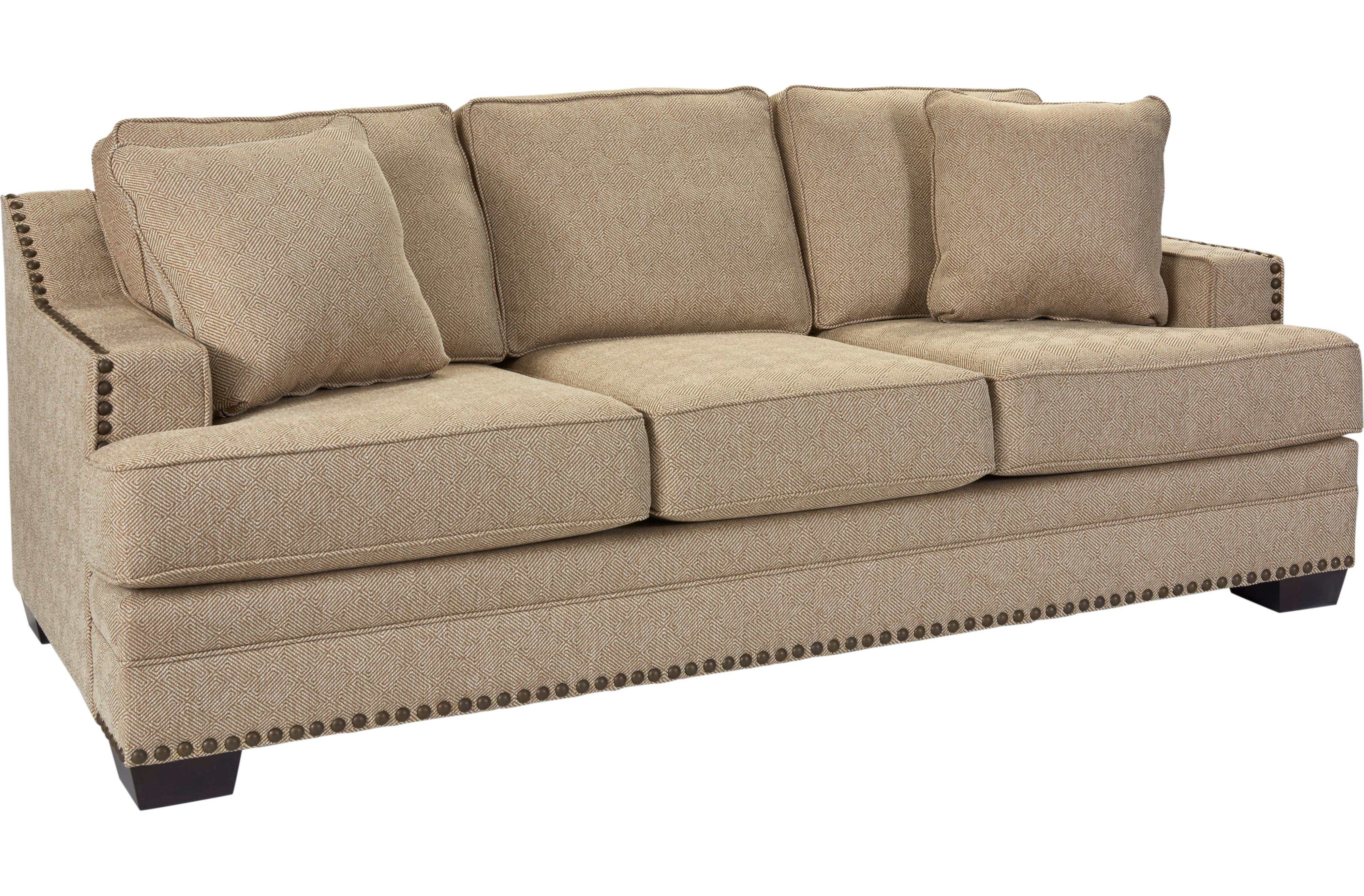 Broyhill Furniture Estes Park Contemporary Sofa With Nailhead Trim - Broyhill conversation sofa leather