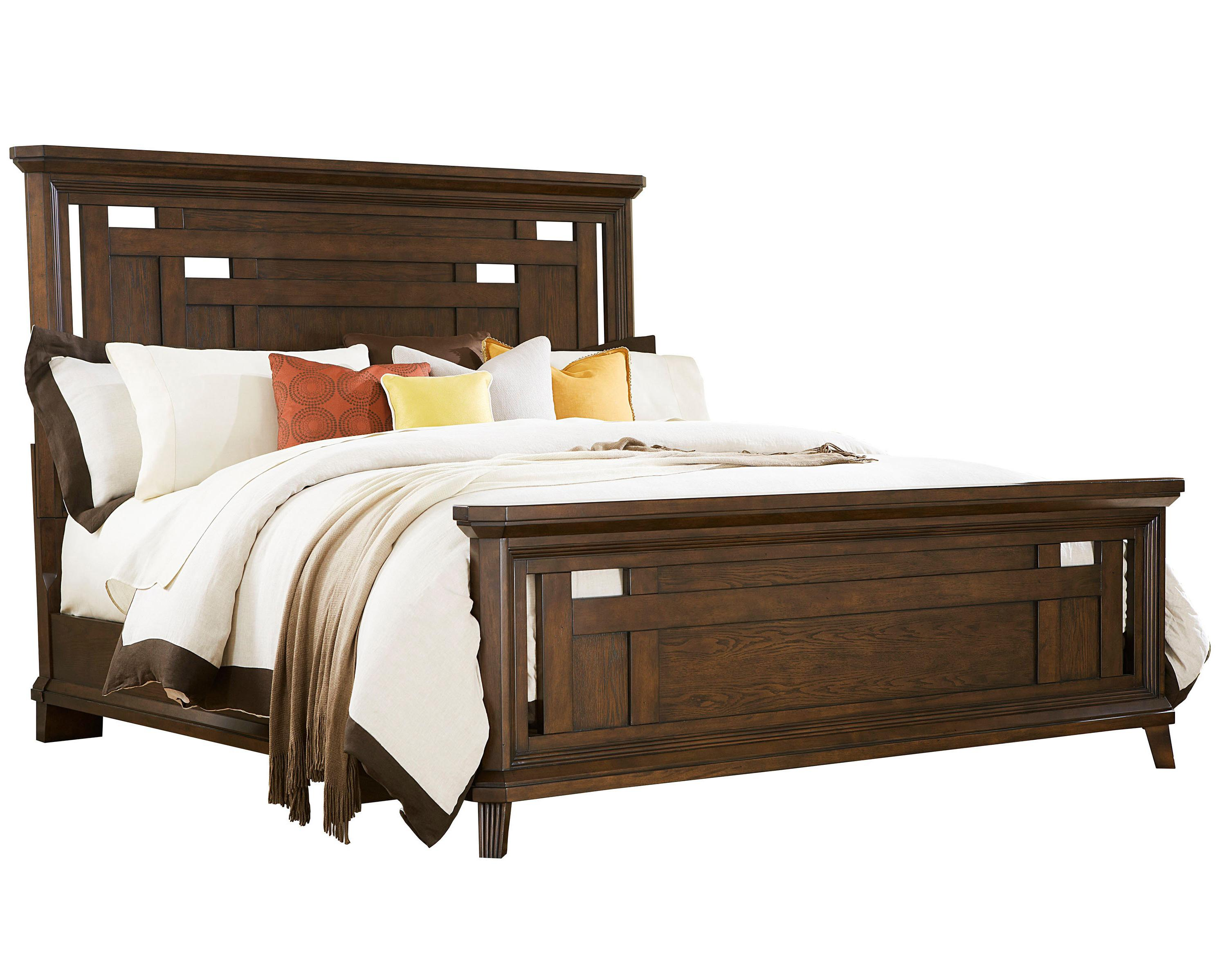 Broyhill Furniture Estes Park King Panel Bed - Item Number: 4364-254+255+450