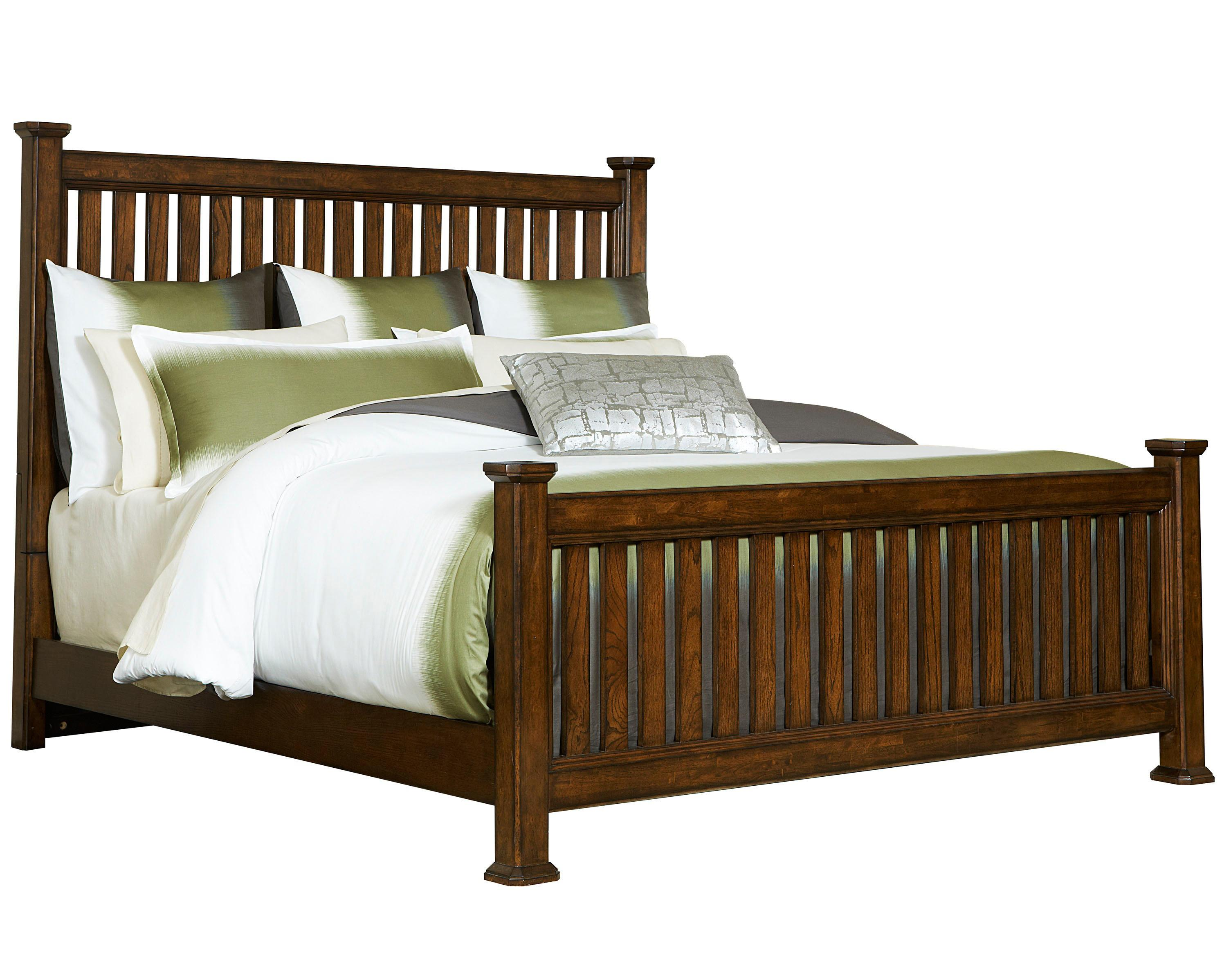 Broyhill Furniture Estes Park King Slat Poster Bed - Item Number: 4364-262+263+460