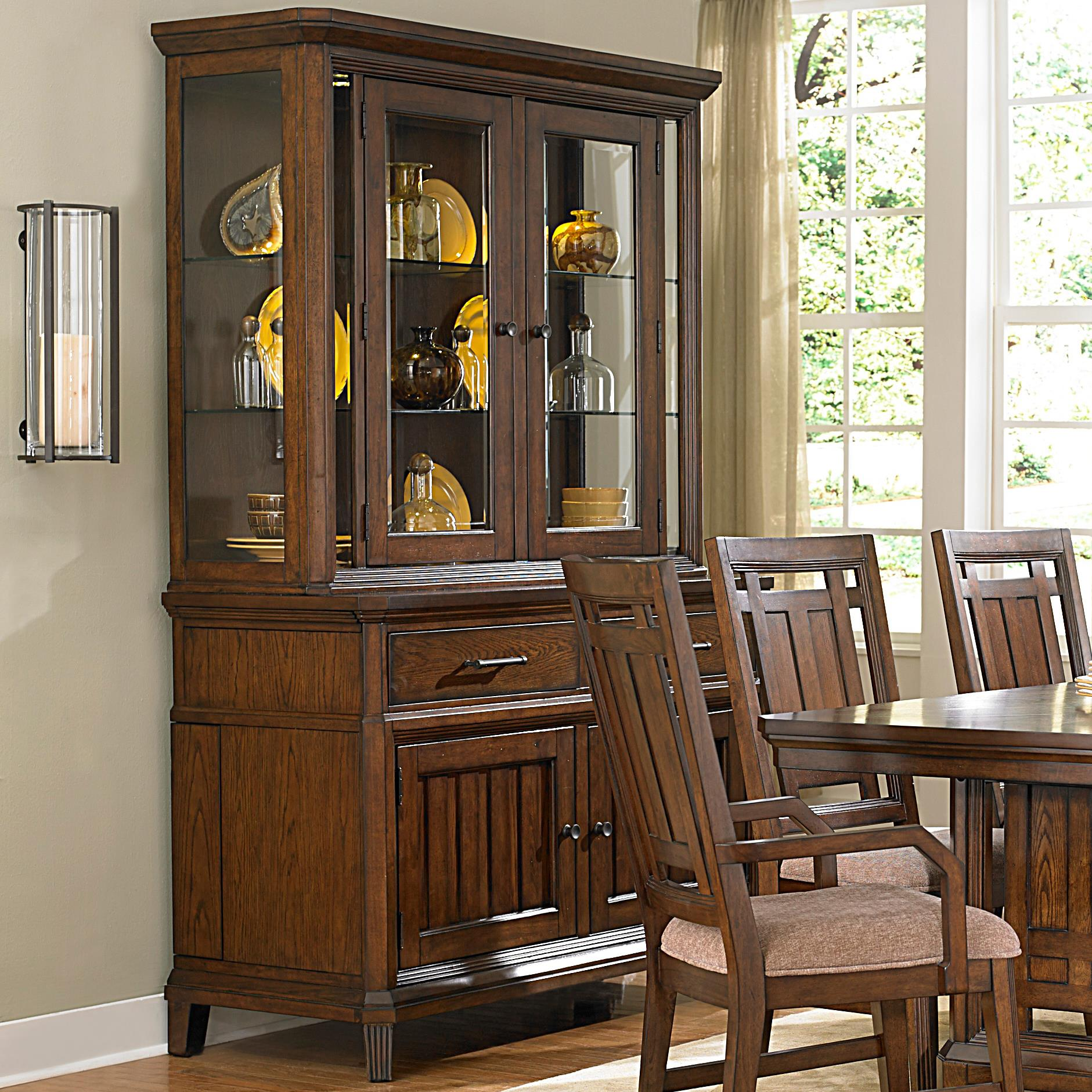 broyhill furniture estes park china cabinet with built in leaf