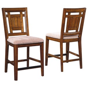Broyhill Furniture Estes Park Upholstered Seat Counter Stool
