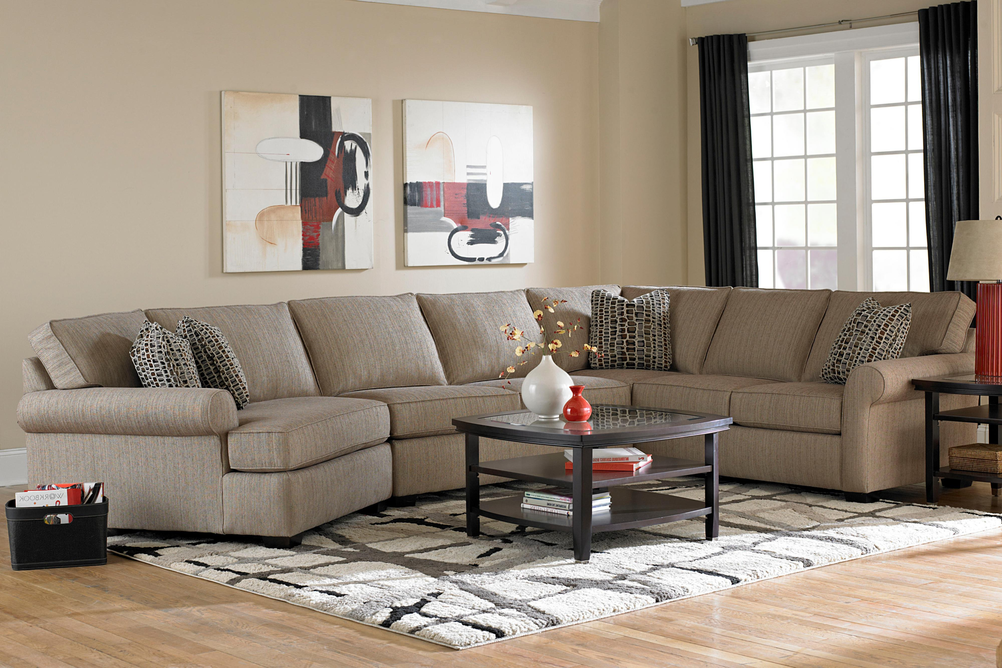 Broyhill Furniture Ethan Transitional Sectional Sofa with Left Facing Cuddler Chair - AHFA - Sofa Sectional Dealer Locator : left cuddler sectional - Sectionals, Sofas & Couches