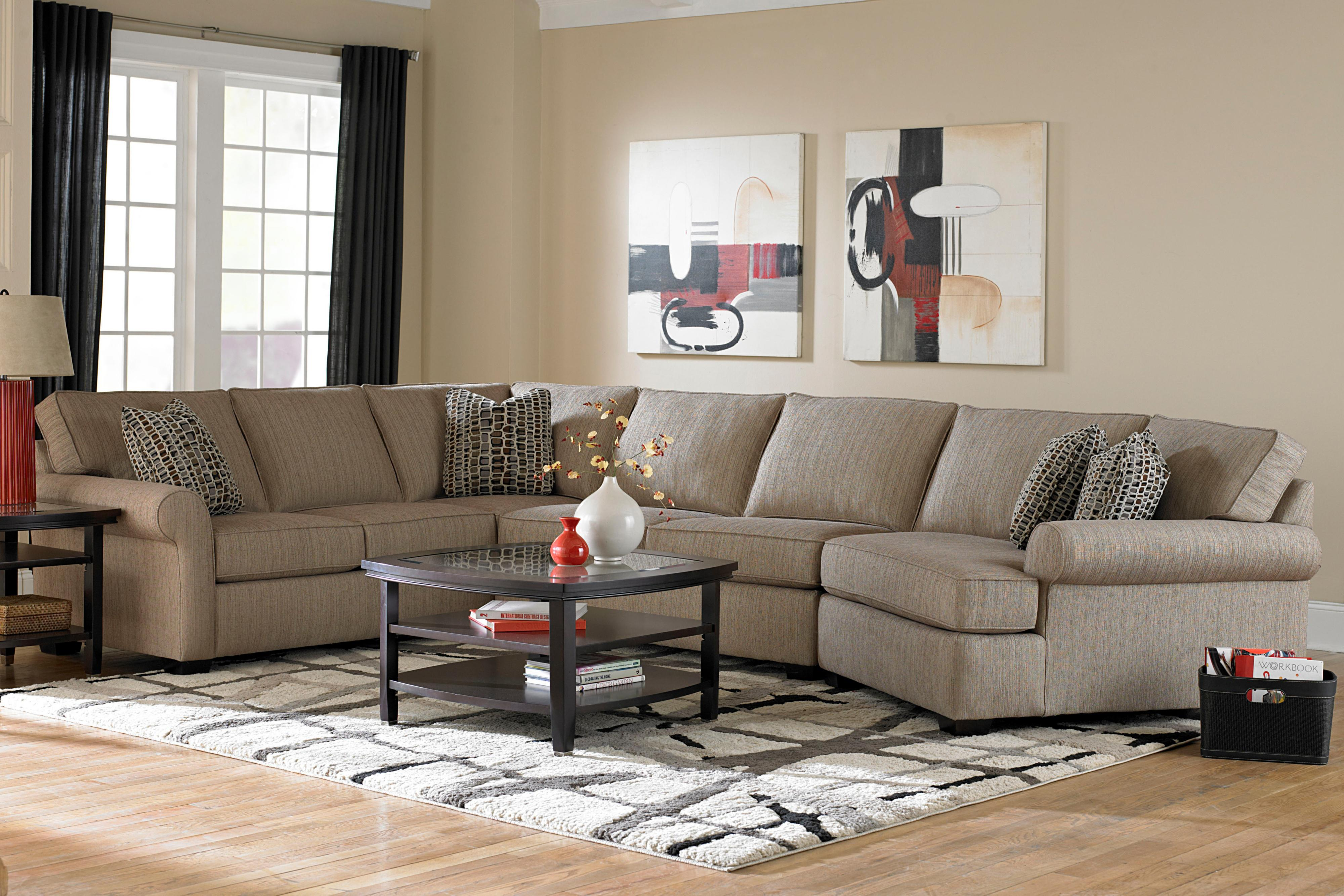 Broyhill Furniture Ethan Transitional Sectional Sofa With Right Facing  Cuddler Chair   AHFA   Sofa Sectional Dealer Locator