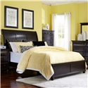 Broyhill Furniture Farnsworth Queen Sleigh Bed - 4856-260+261+450 - Bed Shown May Not Represent Size Indicated
