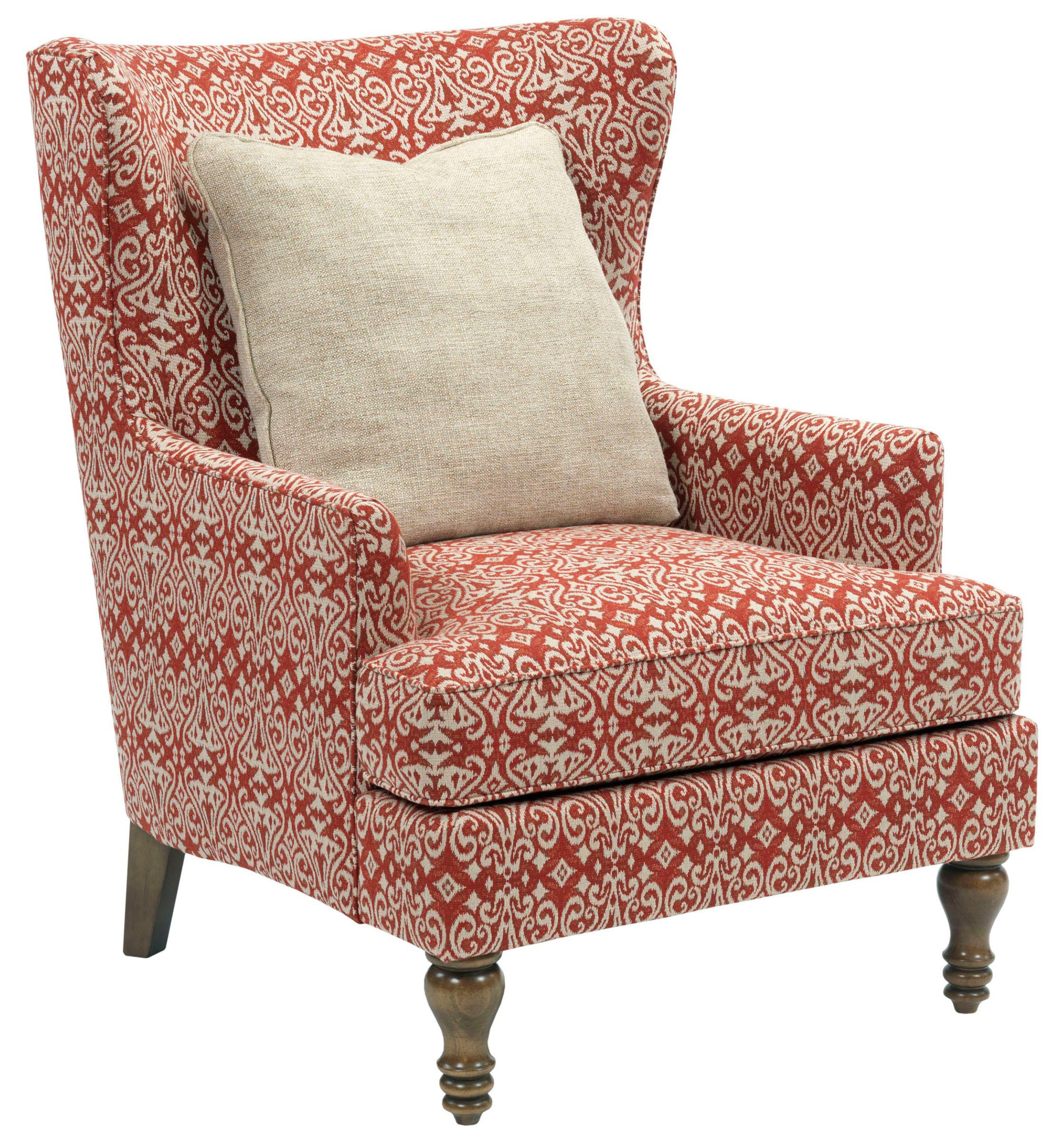 Fiona Transitional Upholstered Wing Back Chair By Broyhill Furniture
