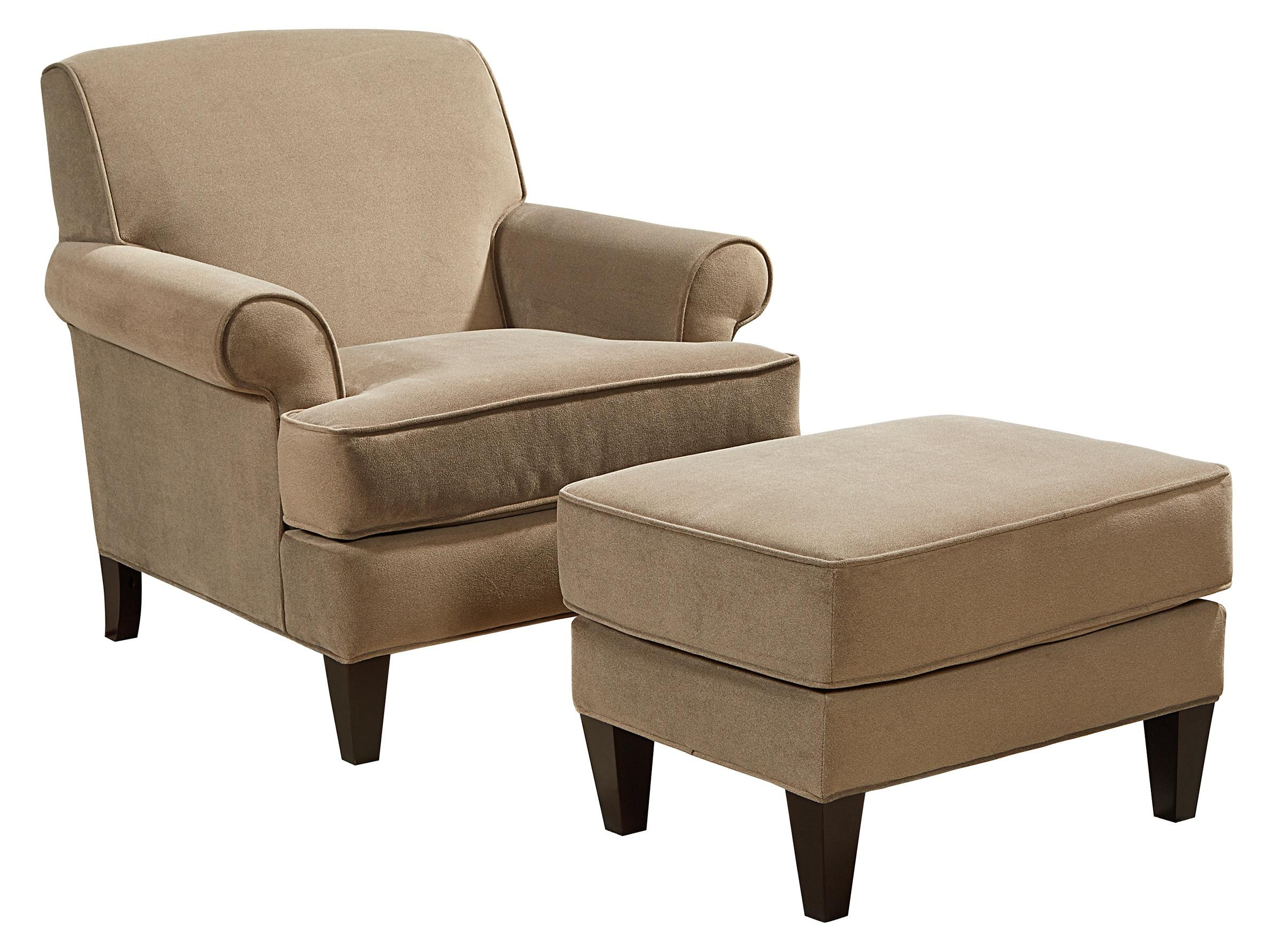 Broyhill Furniture Flint Chair and Ottoman Set - Item Number: 4252-0+5-4238-83