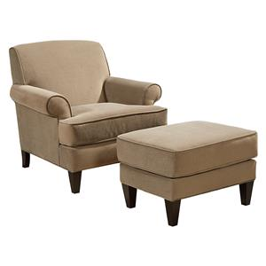 Broyhill Furniture Flint Chair and Ottoman Set