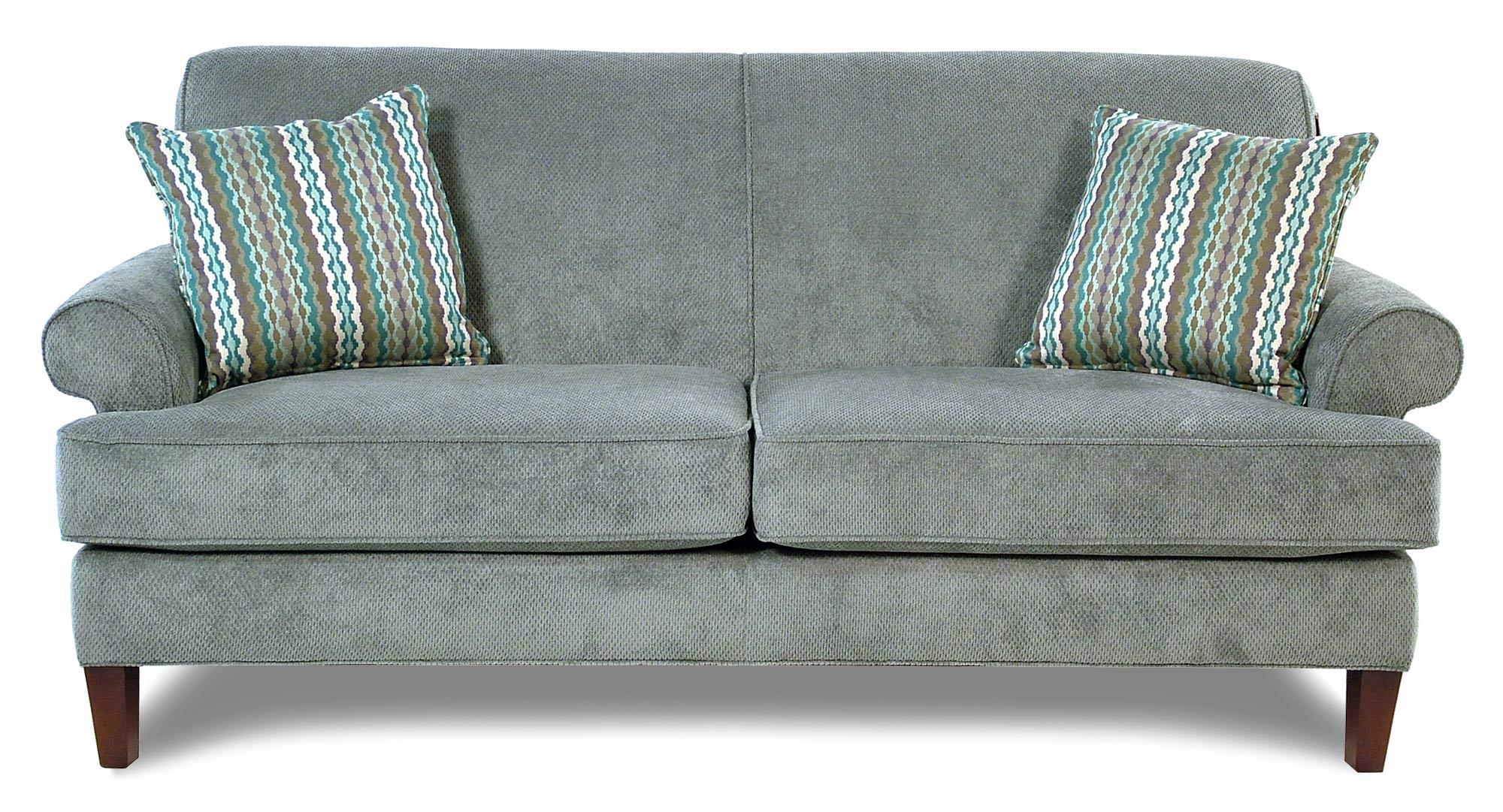 Broyhill Furniture Amanda  Transitional Sofa w/ Tapered Wood Legs - Item Number: 4252-3VIP-4255-32