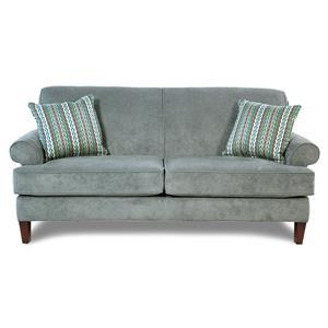 Broyhill Furniture Amanda  Transitional Sofa w/ Tapered Wood Legs