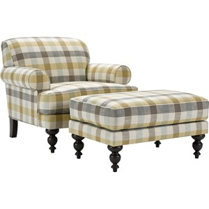 Broyhill Furniture Frankie Chair and Ottoman