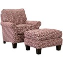 Broyhill Furniture Gina Chair and Ottoman - Item Number: 6966-0+5-4951-56