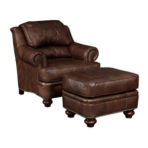 Broyhill Furniture Hamilton  Traditional Chair and Ottoman Set