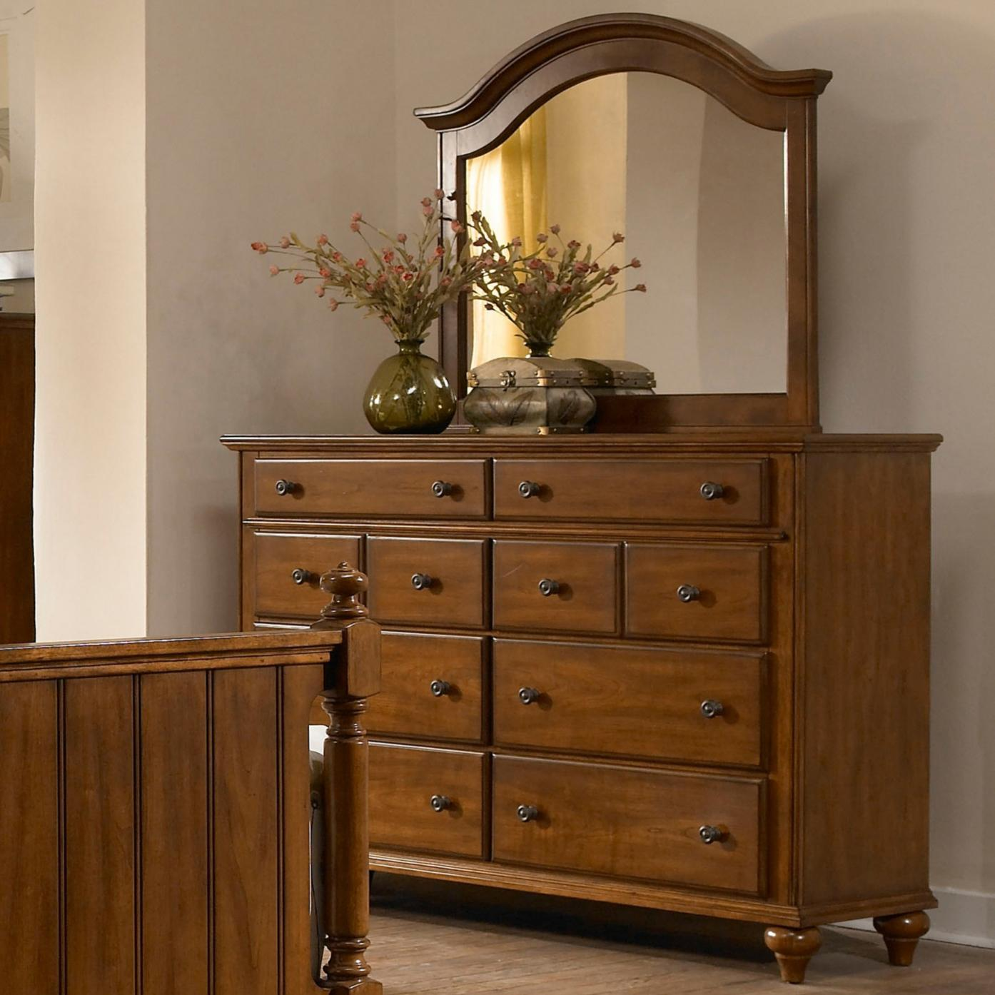 Broyhill Furniture Hayden Place Drawer Dress and Arched Mirror - Item Number: 4648-230+237