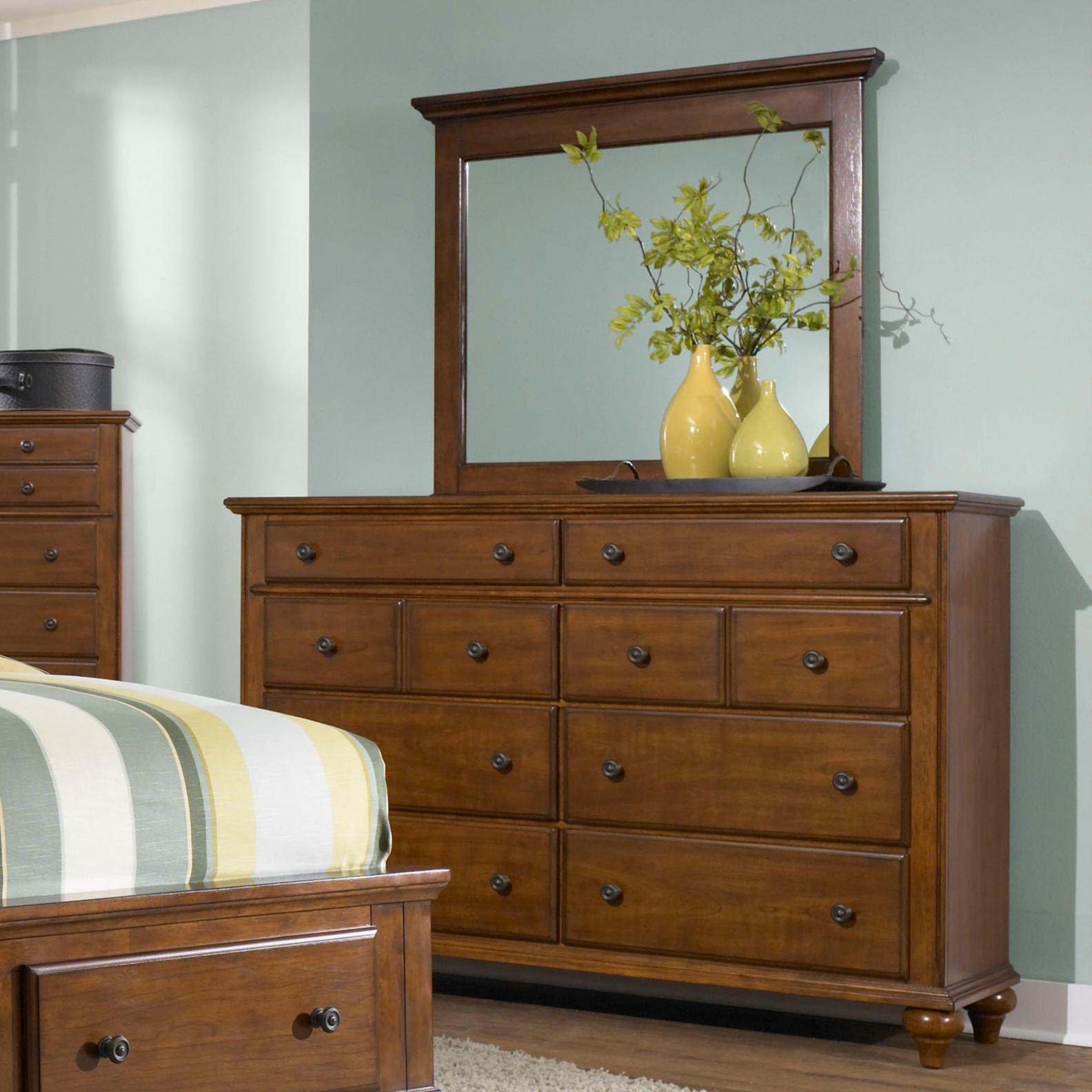 Broyhill Furniture Hayden Place Drawer Dresser and Lanscape Mirror - Item Number: 4648-230+238