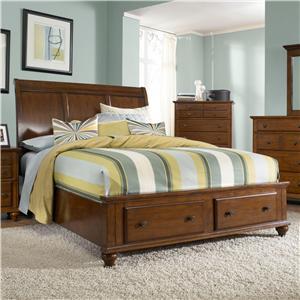 Queen Sleigh Headboard Footboard Storage Bed